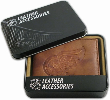 Detroit Red Wings Embossed Leather Bifold Wallet