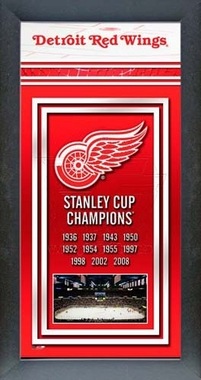 Detroit Red Wings Framed Championship Banner