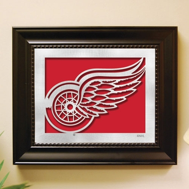 Detroit Red Wings Framed Laser Cut Metal Wall Art