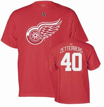 Detroit Red Wings Henrik Zetterberg Name and Number T-Shirt