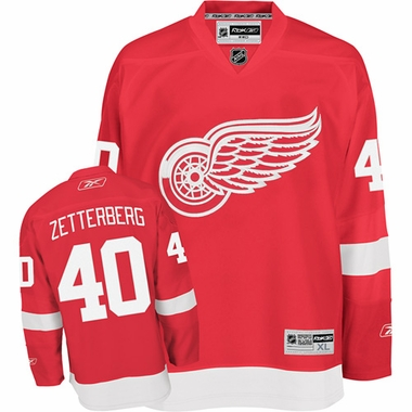 Detroit Red Wings Henrik Zetterberg Reebok Team Color Premier Jersey