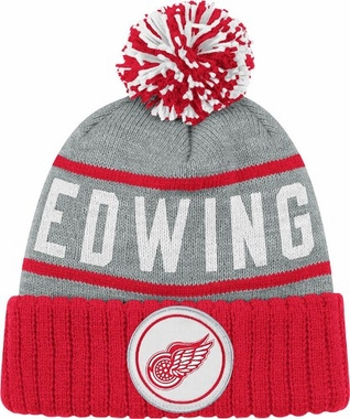 Detroit Red Wings High 5 Vintage Cuffed Pom Hat