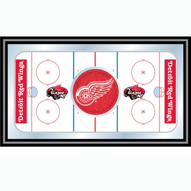 Detroit Red Wings Hockey Bar Mirror