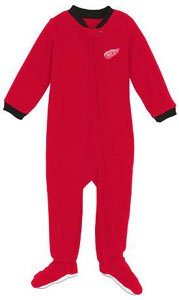 Detroit Red Wings Infant Footed Sleeper Pajamas - 12 Months