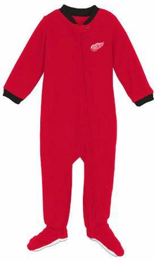 Detroit Red Wings Infant Footed Sleeper Pajamas