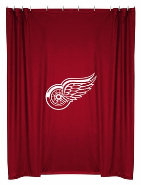Detroit Red Wings Jersey Material Shower Curtain