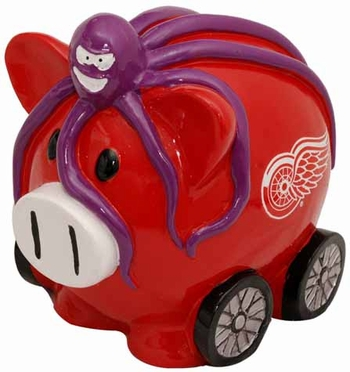 Detroit Red Wings Large Thematic Piggy Bank