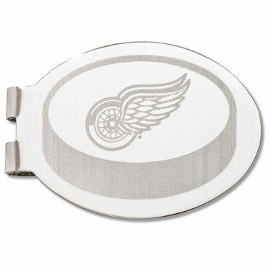 Detroit Red Wings Laser Engraved Money Clip