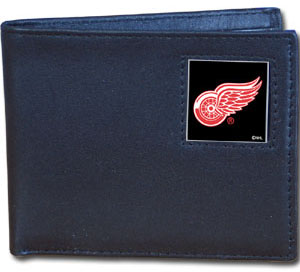 Detroit Red Wings Leather Bifold Wallet (F)
