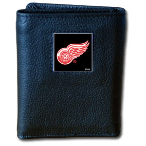 Detroit Red Wings Leather Trifold Wallet (F)