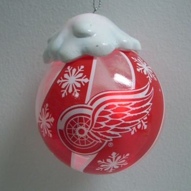 Detroit Red Wings Light Up Glass Ball Ornament