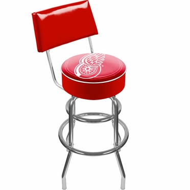 Detroit Red Wings Padded Bar Stool with Back