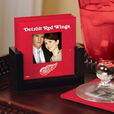 Detroit Red Wings Photo Coaster Set