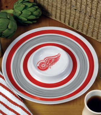 Detroit Red Wings Plastic Chip and Dip Plate