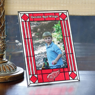 Detroit Red Wings Portrait Art Glass Picture Frame