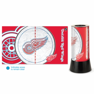 Detroit Red Wings Rotating Lamp