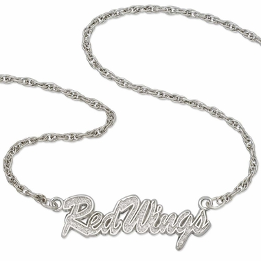Detroit Red Wings Script Necklace