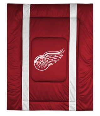 Detroit Red Wings SIDELINES Jersey Material Comforter