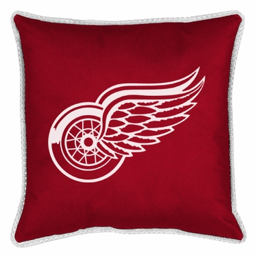 Detroit Red Wings SIDELINES Jersey Material Toss Pillow
