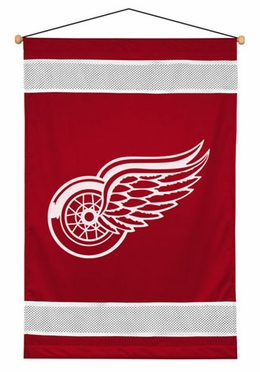 Detroit Red Wings SIDELINES Jersey Material Wallhanging