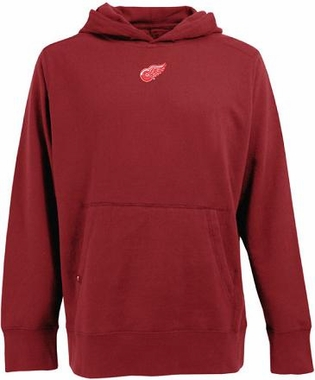 Detroit Red Wings Mens Signature Hooded Sweatshirt (Team Color: Red)
