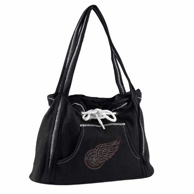Detroit Red Wings Sport Noir Hoodie Purse