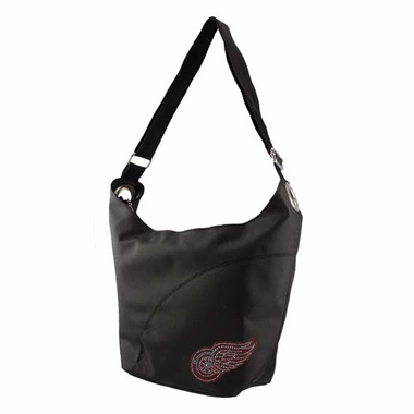 Detroit Red Wings Sport Noir Sheen Hobo Purse