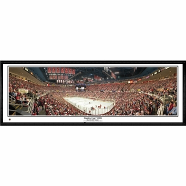 Detroit Red Wings Stanley Cup 2008 Framed Panoramic Print
