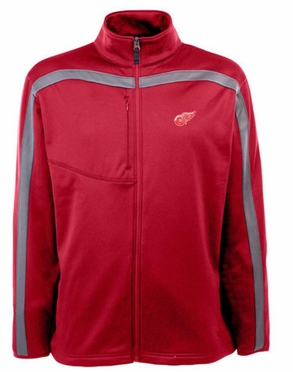 Detroit Red Wings Mens Viper Full Zip Performance Jacket (Team Color: Red)