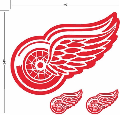 Detroit Red Wings Wallmarx Large Wall Decal