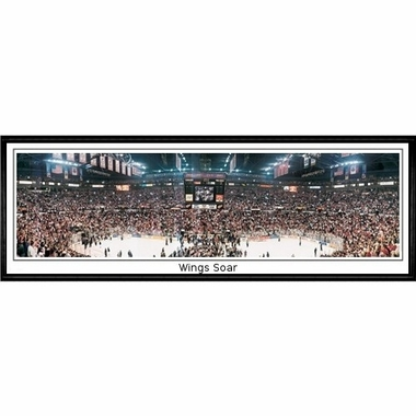 Detroit Red Wings Wings Soar Framed Panoramic Print