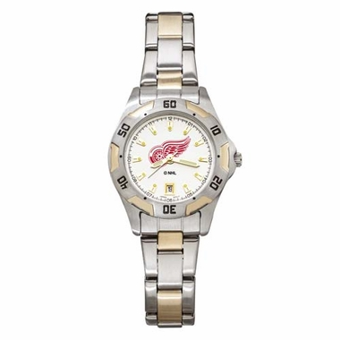 Detroit Red Wings Womens All Pro Two Tone Watch