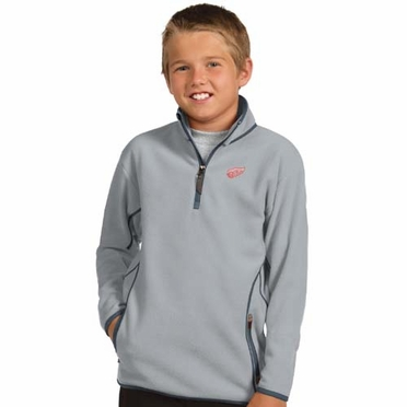 Detroit Red Wings YOUTH Unisex Ice Polar Fleece Pullover (Color: Gray)