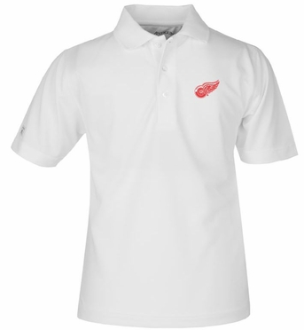 Detroit Red Wings YOUTH Unisex Pique Polo Shirt (Color: White)