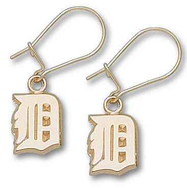 Detroit Tigers 10K Gold Post or Dangle Earrings
