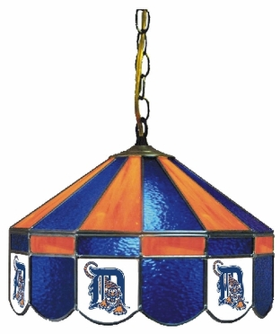 Detroit Tigers 16 Inch Diameter Stained Glass Pub Light