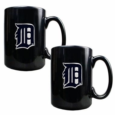 Detroit Tigers 2 Piece Coffee Mug Set
