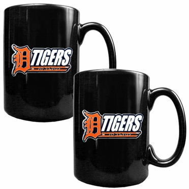 Detroit Tigers 2 Piece Coffee Mug Set (Wordmark)