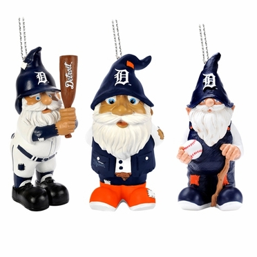 Detroit Tigers 2012 Gnome 3 Pack Ornament Set