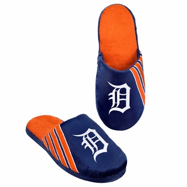 Detroit Tigers 2012 Team Stripe Logo Slippers