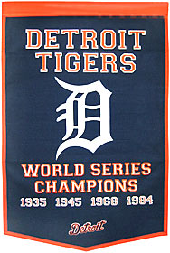 "Detroit Tigers 24""x36"" Wool Dynasty Banner"