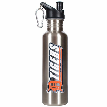 Detroit Tigers 26oz Stainless Steel Water Bottle (Silver)