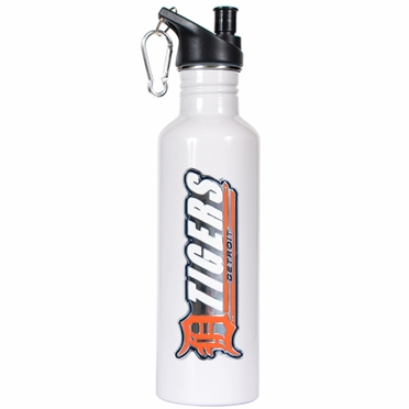 Detroit Tigers 26oz Stainless Steel Water Bottle (White)