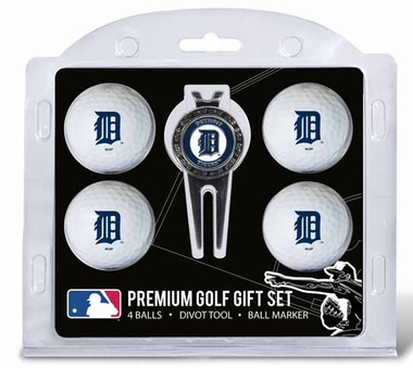 Detroit Tigers 4 Ball and Tool Gift Set
