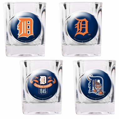 Detroit Tigers 4 Piece Assorted Shot Glass Set