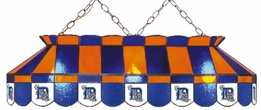 Detroit Tigers 40 Inch Rectangular Stained Glass Billiard Light