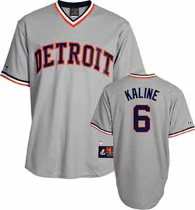 Detroit Tigers Al Kaline Replica Throwback Jersey - Large