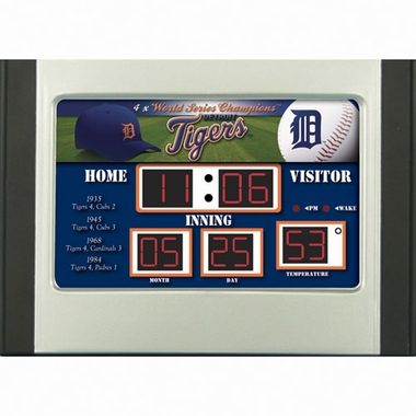 Detroit Tigers Alarm Clock Desk Scoreboard