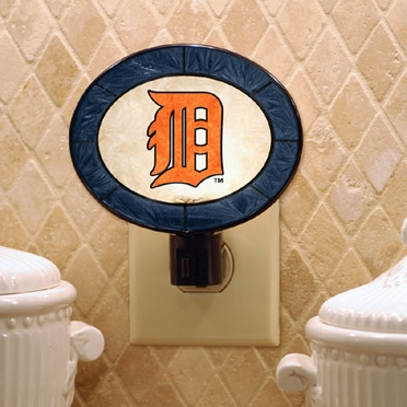 Detroit Tigers Art Glass Night Light