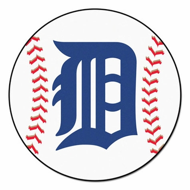 Detroit Tigers Baseball Shaped Rug